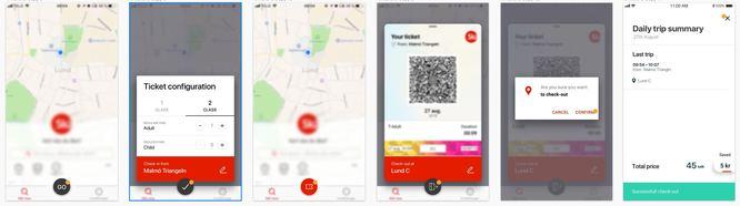 prototype app screens