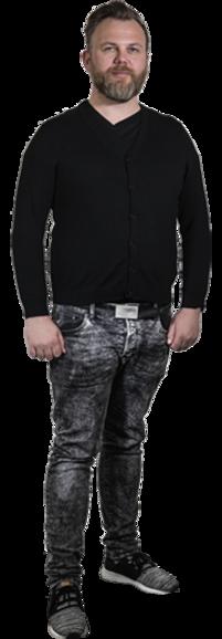 Joakim Nyström full body image